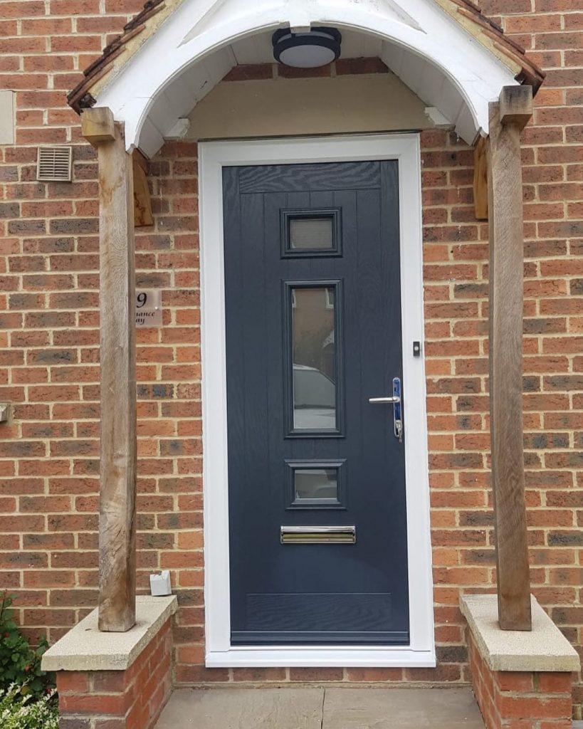Composite-Door-In-Archway