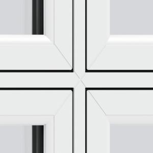 Trade uPVC Flush Sash Windows - Cruciform (welded)